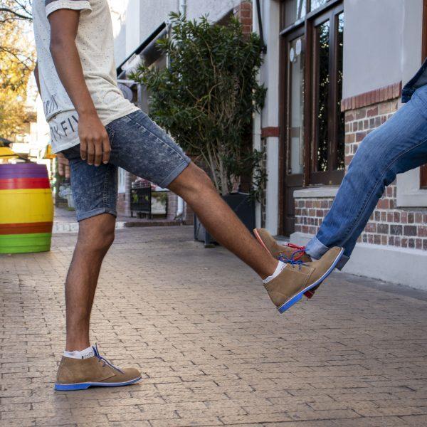 Die traditionellen Veldskoen Schuhe aus Südafrika
